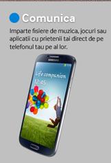 Imparte fisiere de muzica, jocuri sau aplicatii cu prietenii tai direct de pe telefonul tau pe al lor.