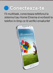 Fii multitask, conecteaza tefefonul la sistemul tau Home Cinema si vorbesti la telefon in timp ce iti verifici emailurile!