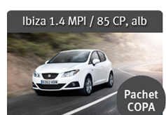 Ibiza 1.4 MPI/ 85 CP, alb - Pachet COPA