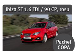 Ibiza ST 1.6 TDI / 90 CP, rosu - Pachet COPA