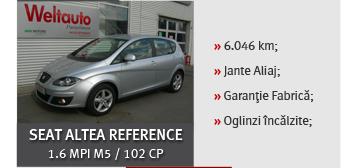 Seat altea reference 1.6 MPI M% / 102 CP - 9.500 euro / 103 euro / luna