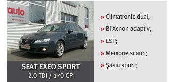 Seat exeo sport 2.0 tdi / 170 cp - 15.395 euro / 195 euro / luna