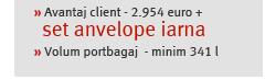 » Avantaj client - 2.954 euro +  set anvelope iarna » Volum portbagaj  - minim 341 l