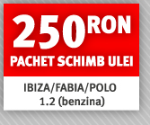 250 RON pachet schimb ulei IBIZA/FABIA/POLO 1.2 (benzina)