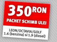 350 RON pachet schimb ulei LEON/OCTAVIA/GOLF 1.6 (benzina) si 1.9 (diesel)