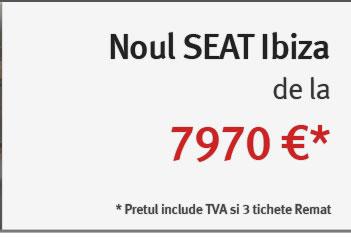 Noul Seat Ibiza de la 7970 euro
