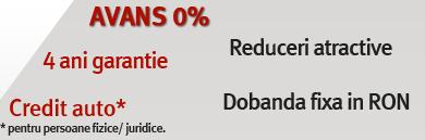 Avans 0% 4 ani garantie