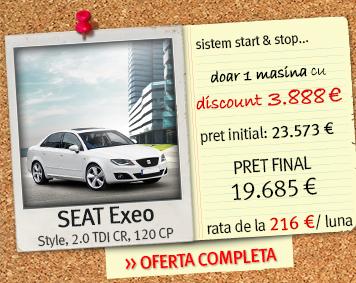 SEAT Exeo - pret final: 19.685 euro