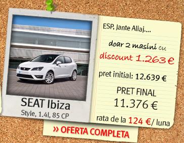SEAT Ibiza - pret final: 11.376 euro