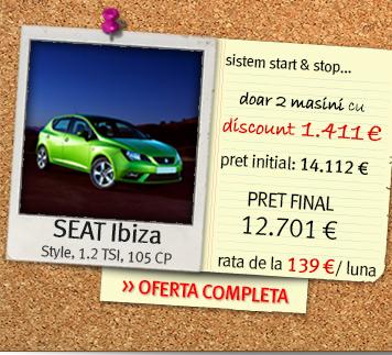 SEAT Ibiza - pret final: 12.701 euro