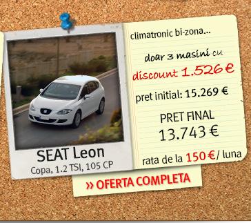 SEAT Leon - pret final: 13.743 euro