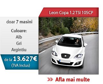 Leon Copa 1.2 TSI 105CP! Doar 7 masini, culoare alb, gri, argintiu! De la 13.627 € (TVA inclus)