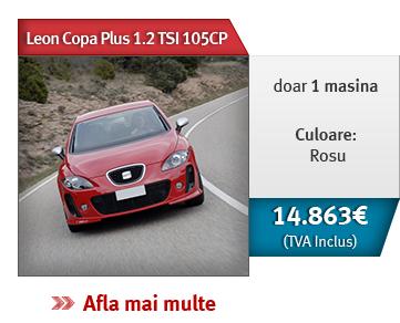 Leon Copa Plus 1.2 TSI 105CP! Doar 1 masina, culoare rosu. 14.863 € (TVA inclus)