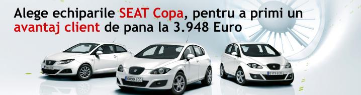 Alege echiparile SEAT Copa, pentru a primi un avantaj client de pana la 3.948 Euro