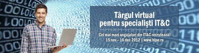 Targul virtual pentru specialisti IT&C