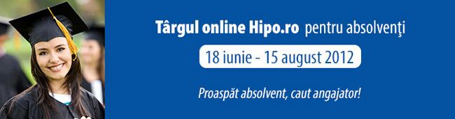 Targul online Hipo.ro pentru absolventi