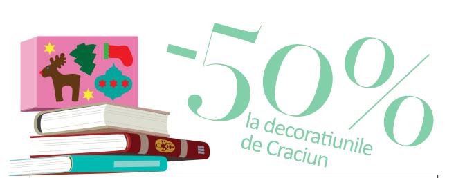30% pe carti si decoratiuni de Craciun