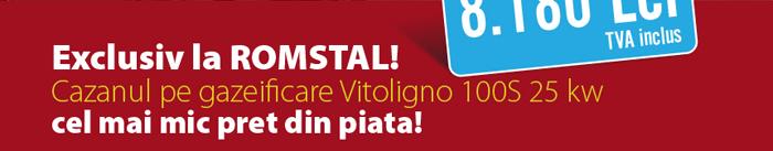 Exclusiv la ROMSTAL! Cazanul pe gazeificare Vitoligno 100S 25 kw